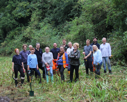 AW Volunteers for annual wetland work