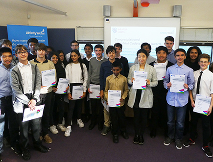 Industrial cadets receive certificates