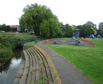 Manor Road Park before the improvement works started