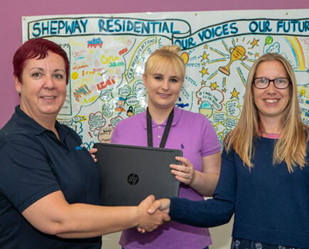 Affinity Water gives a helping hand to Shepway Young Person's at Risk